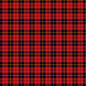 """Wallace clan tartan, 1""""  (this size and smaller are without twill lines)"""