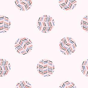 Abstract Polka Dot Circle