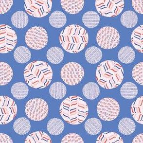 Striped Polka Dot Circle