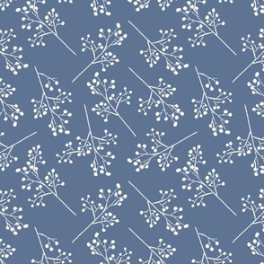 Blue and White Romantic Floral