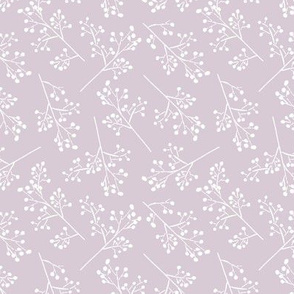 Thistle Pink and White Romantic Floral