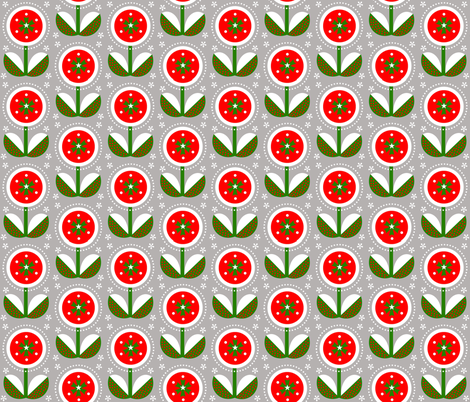 christmas flower fabric by farreystudio on Spoonflower - custom fabric