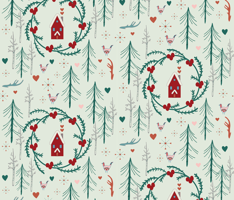 Winter Folk fabric by prairie_owl_designs on Spoonflower - custom fabric