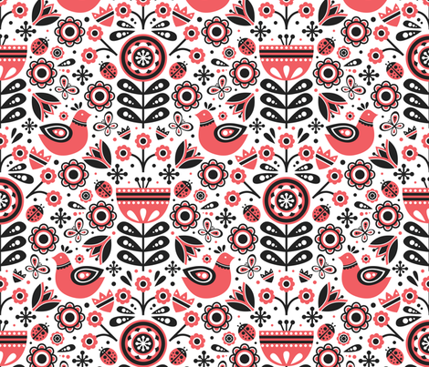 Scandinavian Spring fabric by robyriker on Spoonflower - custom fabric