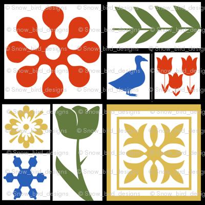 Scandanavian Tile Squares