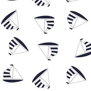 Blue sailing boats