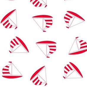 Nautical sailing boats red