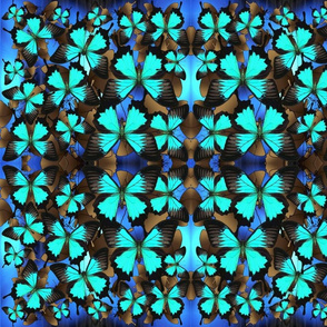 Ulysses Mutli Blue & Brown1 Mirror Medium