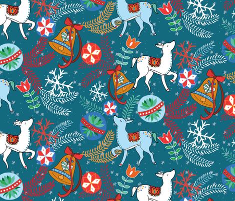 FestiveFolk fabric by stitch_n_sketch on Spoonflower - custom fabric