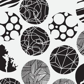 Patterned Circles (Black & White)
