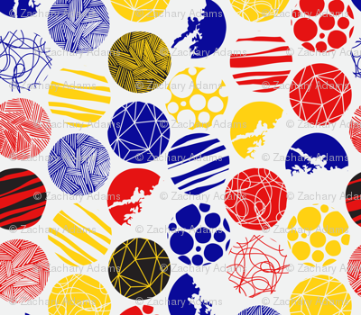 Patterned Circles (Coloured)