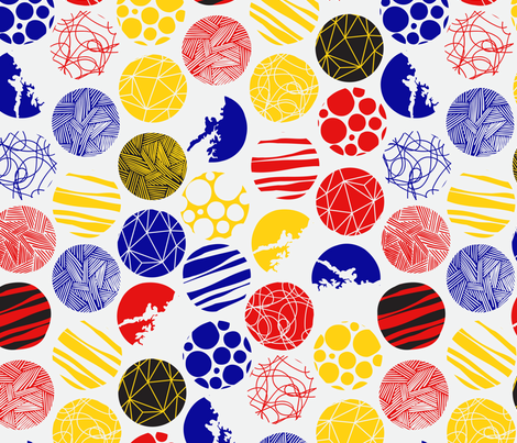 Patterned Circles (Coloured) fabric by zacada on Spoonflower - custom fabric