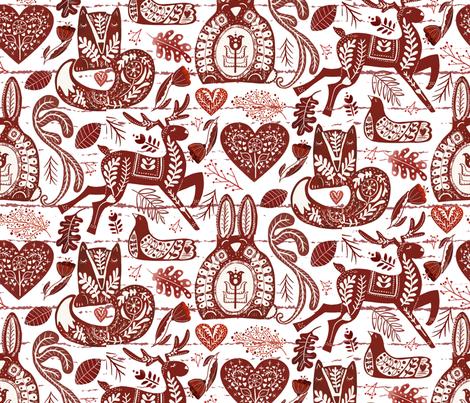 Scandi Forest_wood white fabric by bridgettstahlman on Spoonflower - custom fabric