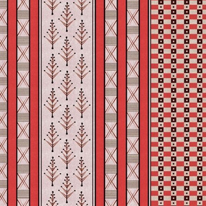 inca weaves coral white 24