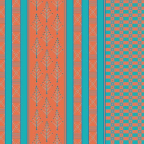 inca weaves turquoise terracotta 24