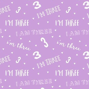 I'm Three - Purple - Birthday