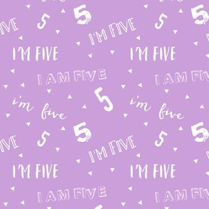 I'm Five - Purple - Birthday