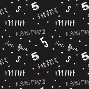 I'm Five - Black - Birthday
