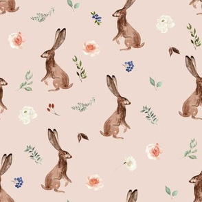"8"" Boho Woodland Bunnies // Beige Bisque"