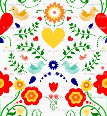 Scandinavian Inspired Floral and Birds