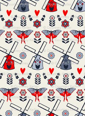 Scandinavian Folk Windmills