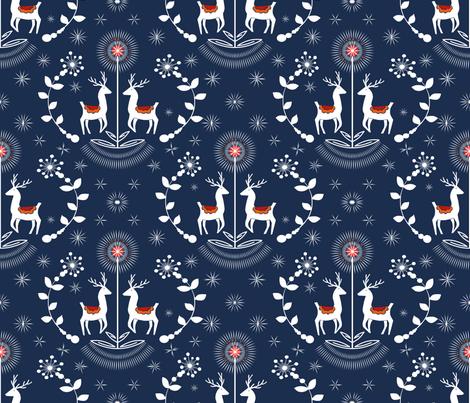 Nordic Nights  sewindigo fabric by sewindigo on Spoonflower - custom fabric