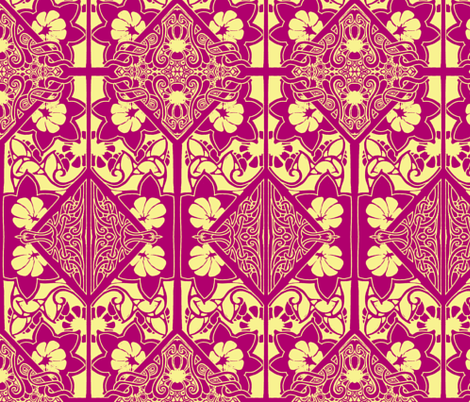 Signs of a Denmark Spring fabric by edsel2084 on Spoonflower - custom fabric