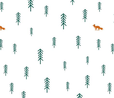 Scandinavian Fox Forest fabric by charladraws on Spoonflower - custom fabric