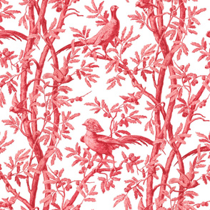 Golden Pheasants Chinoiserie Toile ~ Original