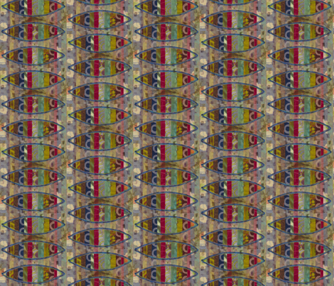 fish stripe fabric by fiberdesign on Spoonflower - custom fabric