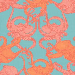 Cephalopod - Octopi smaller - Pantone 2019 Shimmering