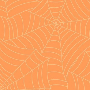 Spooky Spiderweb in Screamsicle