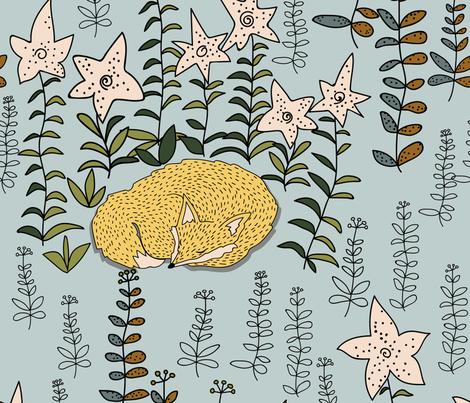 scandinav_fox2 fabric by polileo on Spoonflower - custom fabric