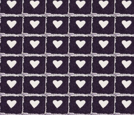 Purple hearts fabric by crabbynette on Spoonflower - custom fabric