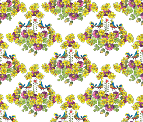 Scandinavian Spring fabric by christina_mitchell on Spoonflower - custom fabric