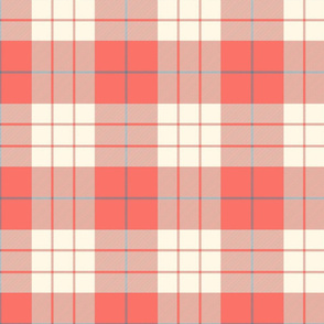 MacLeod Plaid ~ Coral Reef, Cosmic Latte, Elzabeth