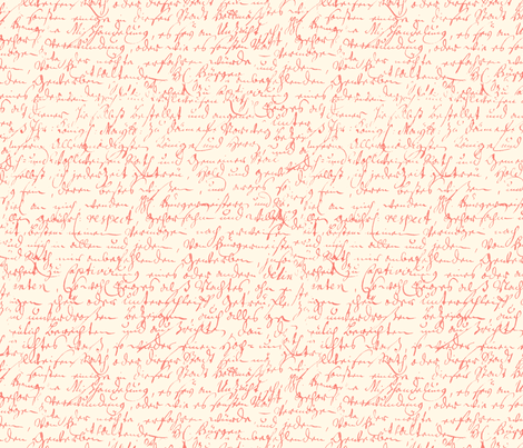 I Thought I'd Write To Juliet ~ Coral Reef on Cosmic Latte   fabric by peacoquettedesigns on Spoonflower - custom fabric