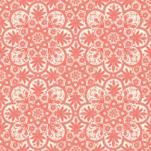 Bourgogne Tile ~ Coral Reef on Cosmic Latte