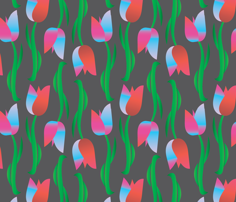 Scandia Tulips fabric by veritas_design on Spoonflower - custom fabric