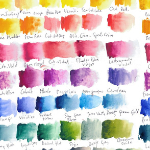 Watercolour Chart - large