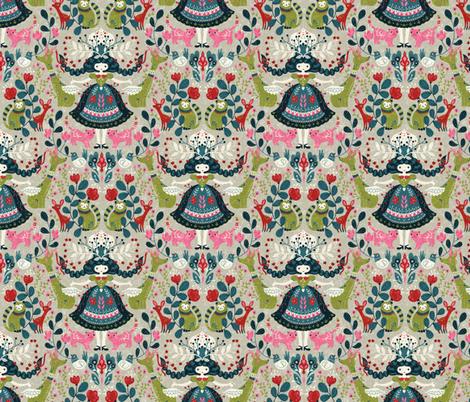 scandinavian-girl fabric by gaiamarfurt on Spoonflower - custom fabric