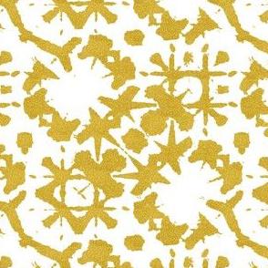 shibori crisscross gold