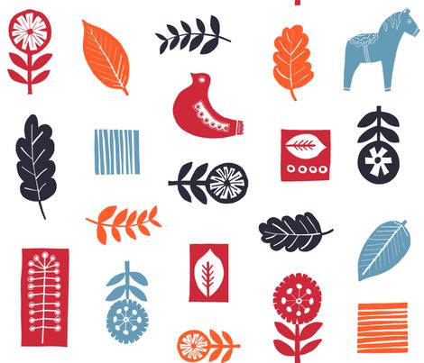 Scandic fabric by sinelinea on Spoonflower - custom fabric