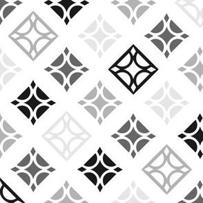 Diamond Tiles Black and White