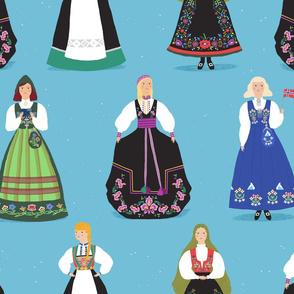 Norwegian Bunad Girls