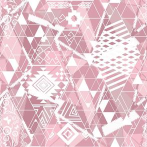 Pink patchwork.
