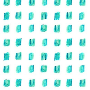 Aqua blue watercolor squares