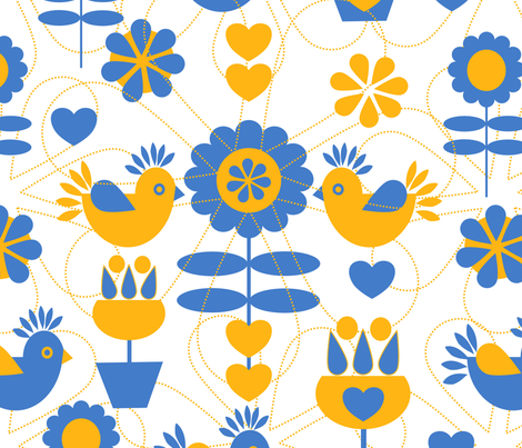 Scandinavian Rustic Design  fabric by mirimo_design on Spoonflower - custom fabric