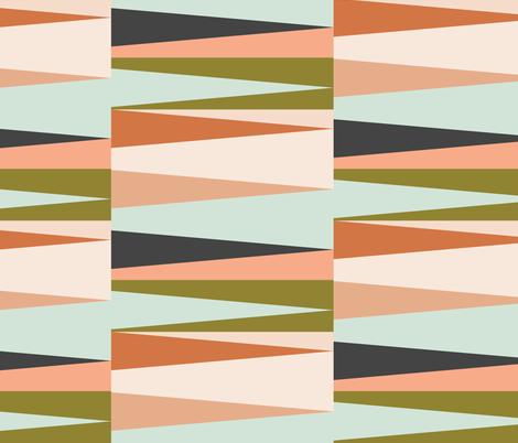 Scandinavian Geometry Green fabric by bruxamagica on Spoonflower - custom fabric