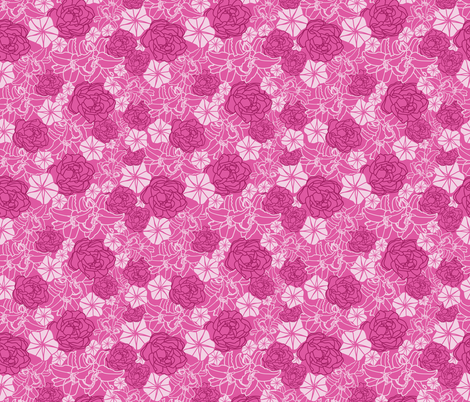 Pink_Tropical_party_seaml.rev_Flowers_Stock fabric by evy_v_design on Spoonflower - custom fabric